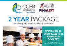 ケアンズの語学学校CCEBから2年間の調理師コースが登場